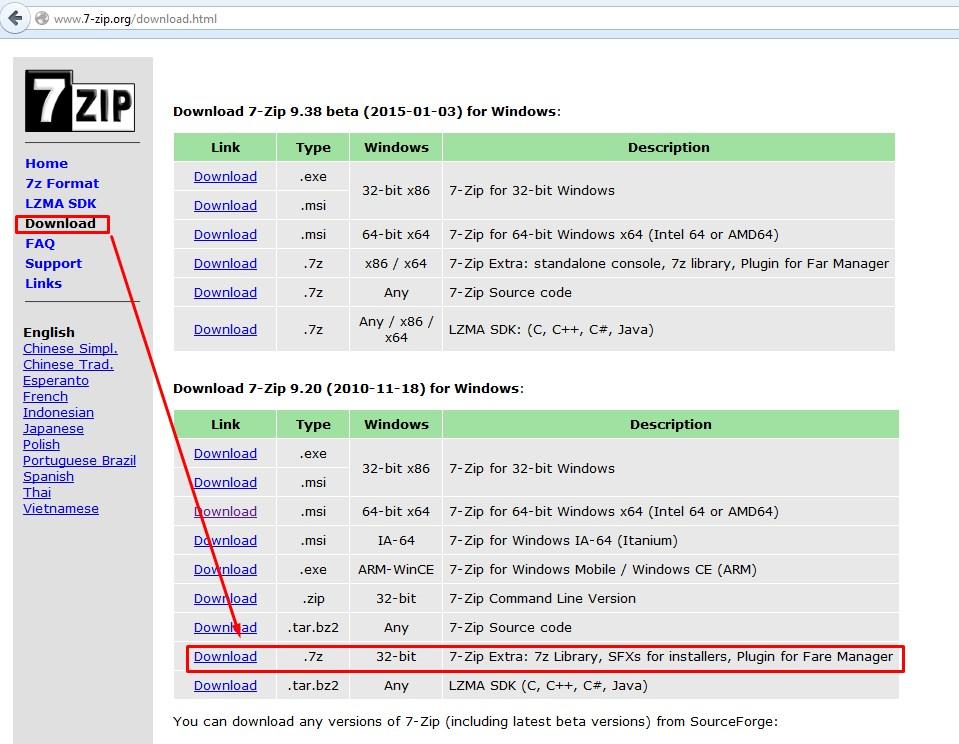 TUTOS EU : Faire une archive avec 7zip en ligne de commande qui