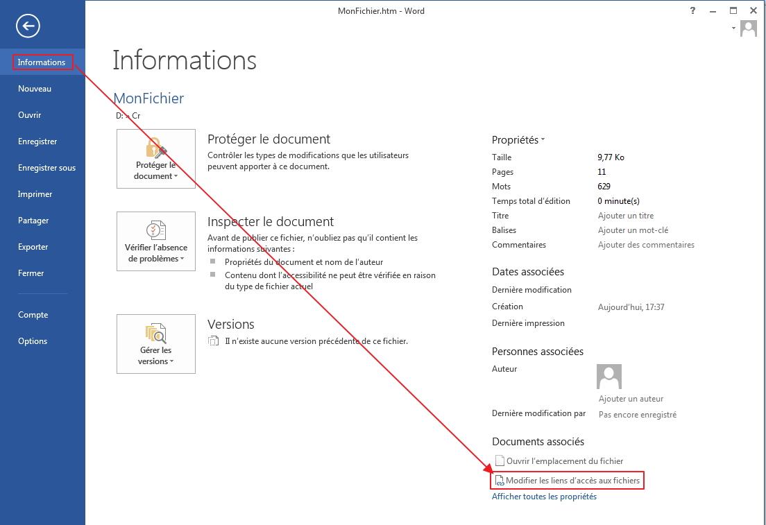 convertir un fichier word en pdf avec word 2013